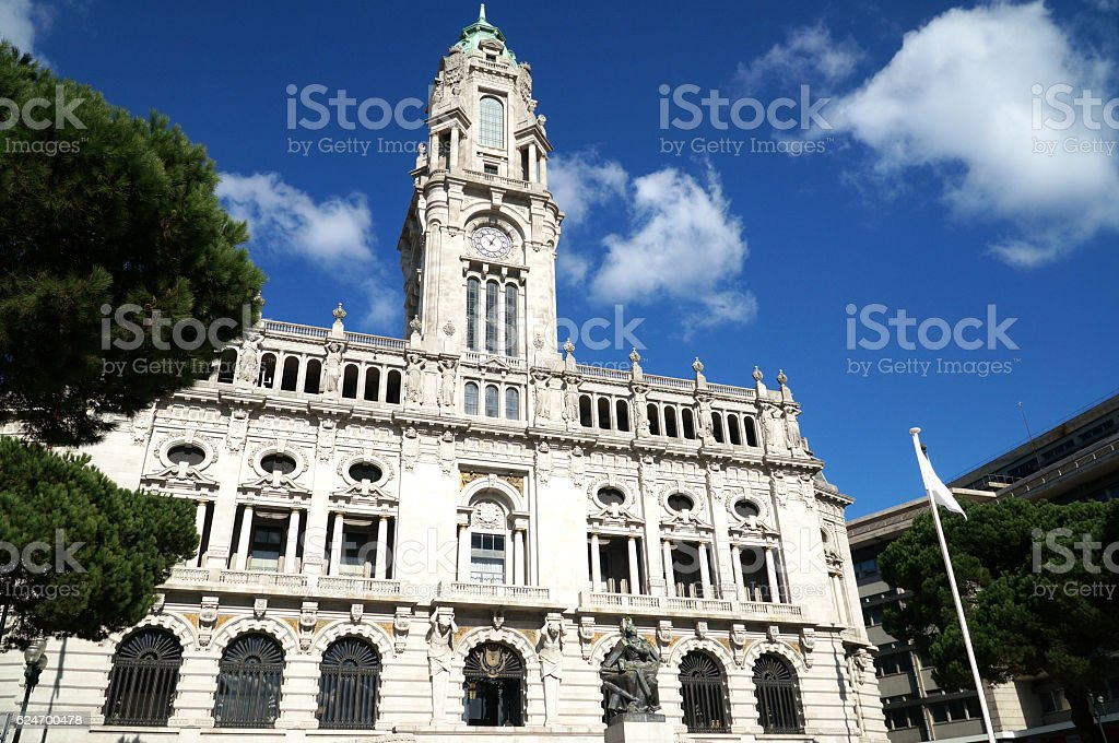 City Hall of Porto stock photo