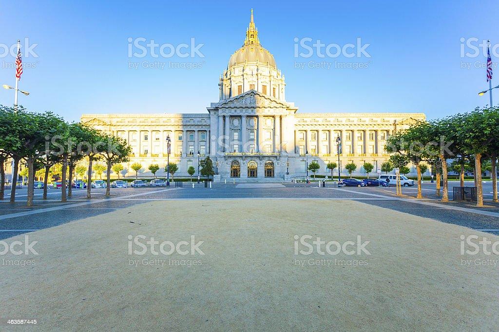 City Hall of San Francisco at Sunrise, California stock photo