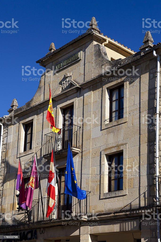 City hall of Santo Domingo de Silos, Burgos stock photo