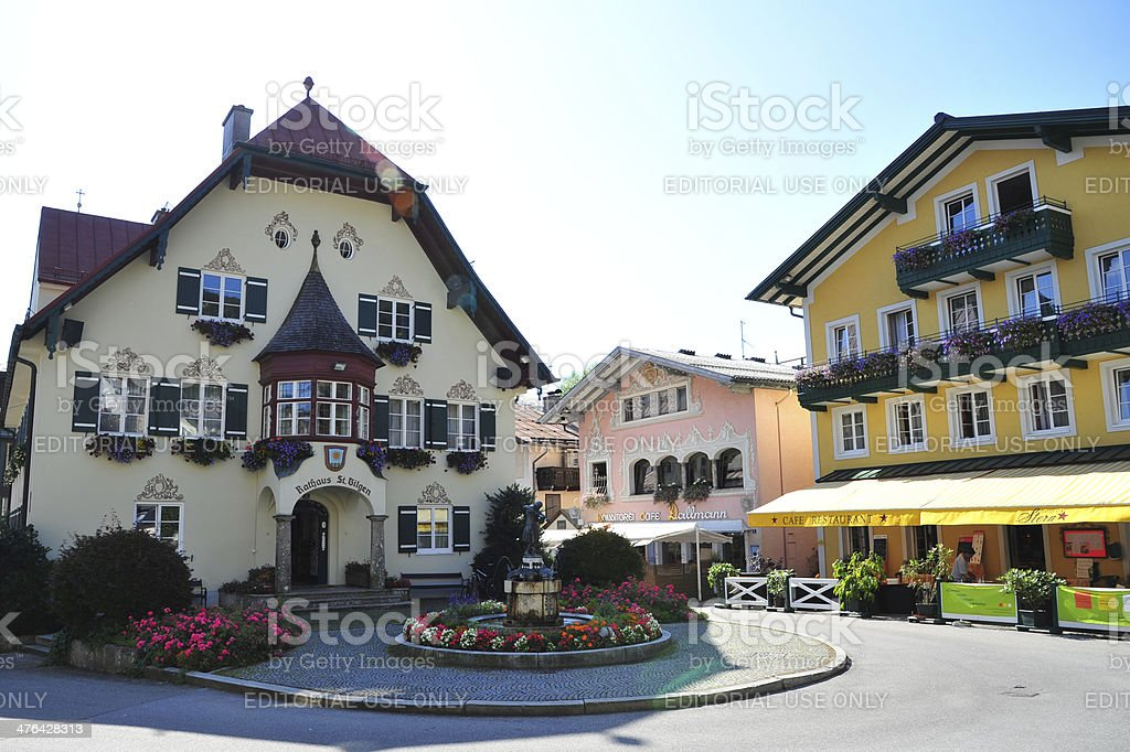 City Hall of St. Gilgen, Austria stock photo