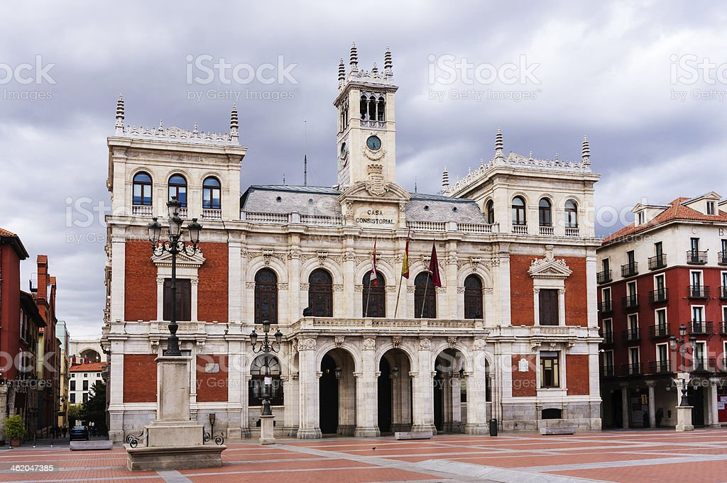City Hall of Valladolid stock photo