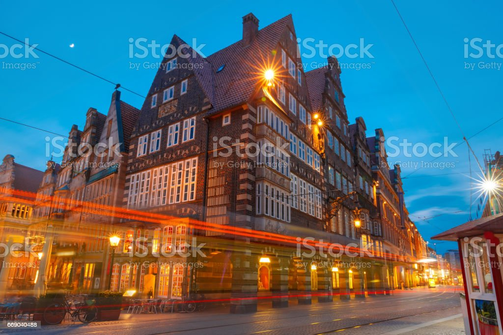 City Hall on Market Square in Bremen, Germany stock photo