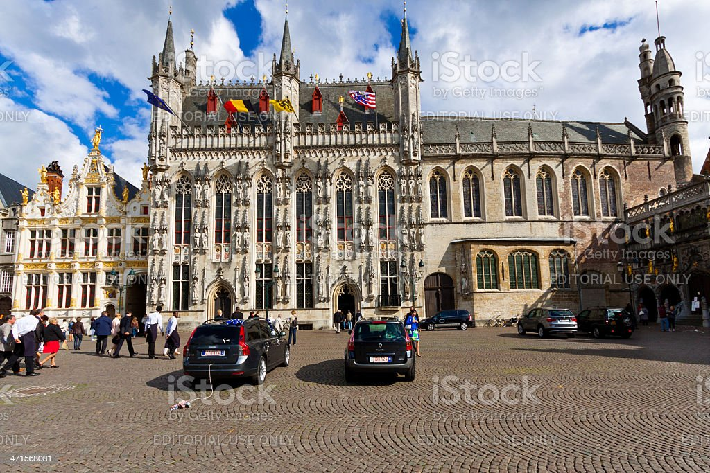 City Hall on the Burg, Bruges. stock photo