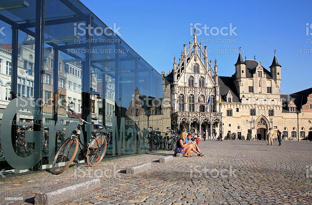 City Hall on the Grand Market square, Mechelen, Flanders, Belgium. royalty-free stock photo