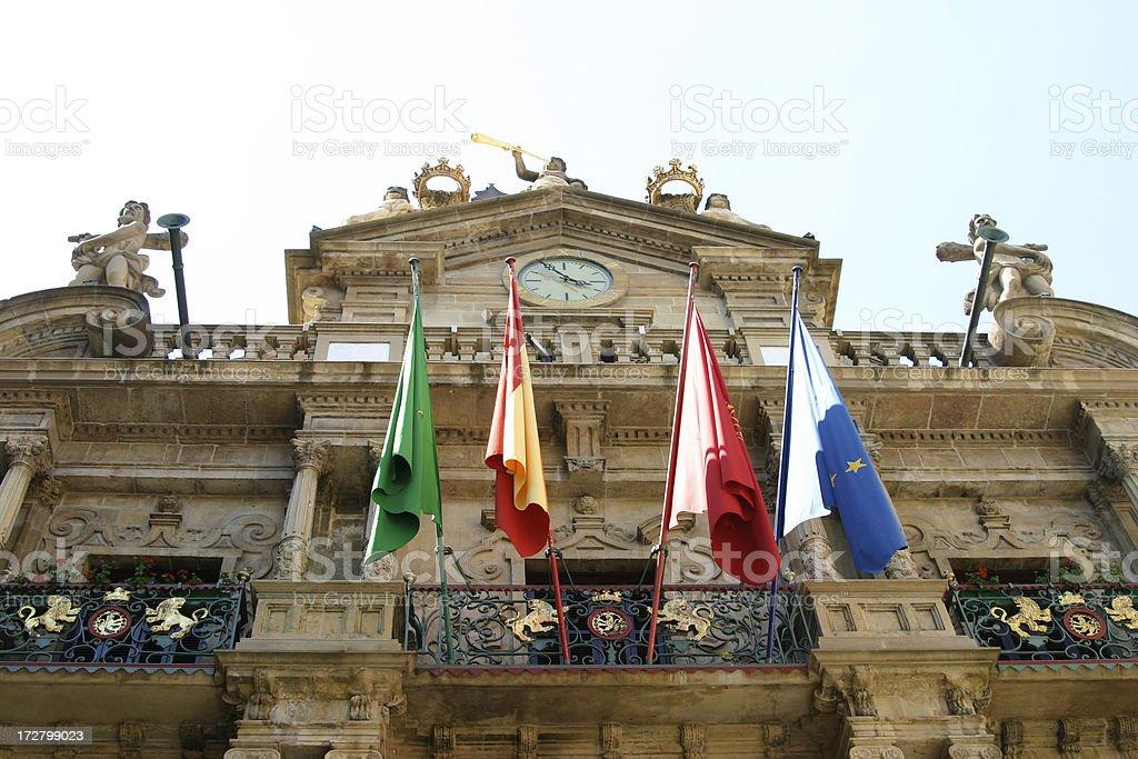 City Hall Pamplona stock photo