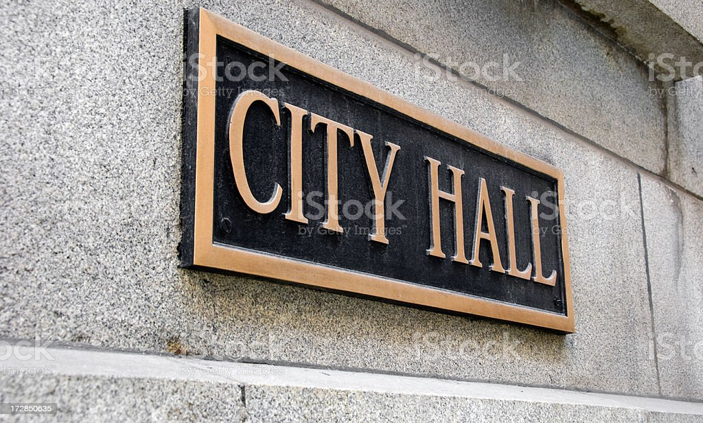 City Hall stock photo