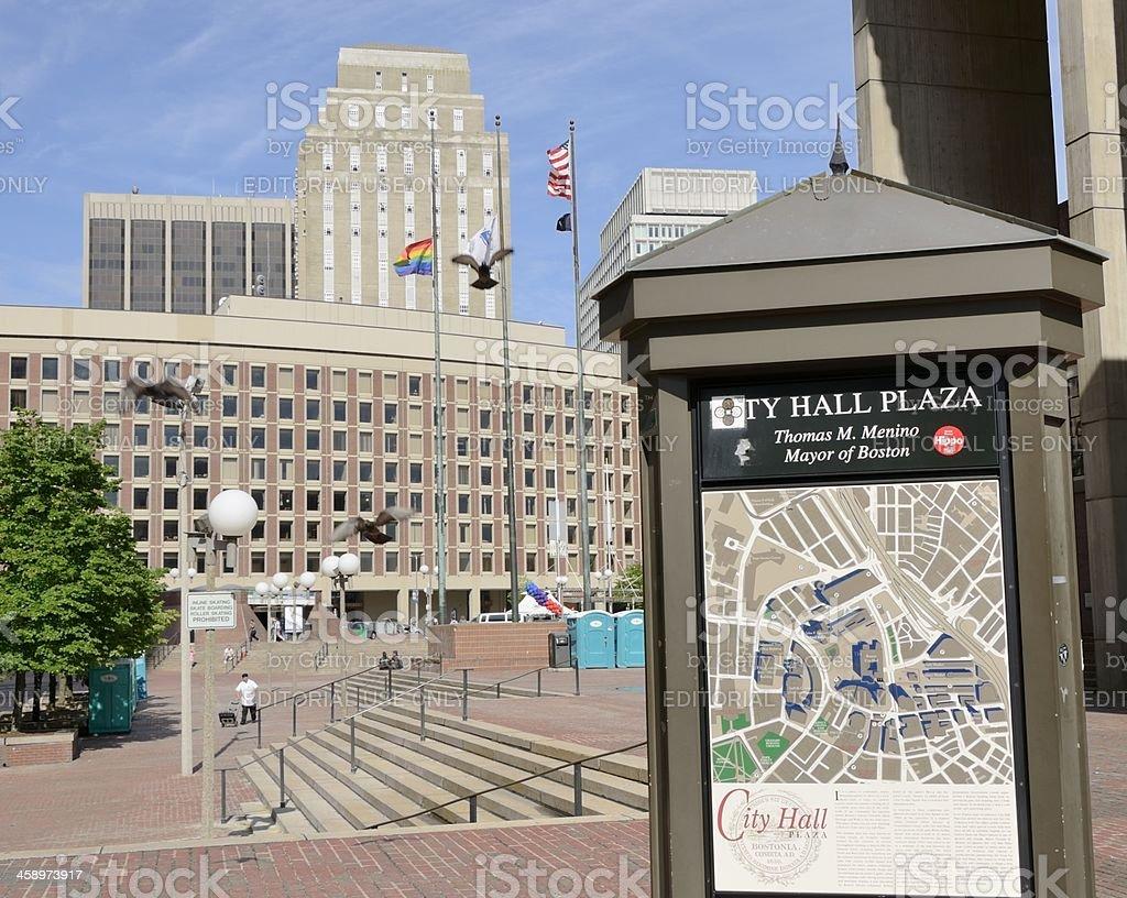 City Hall Plaza, Boston stock photo