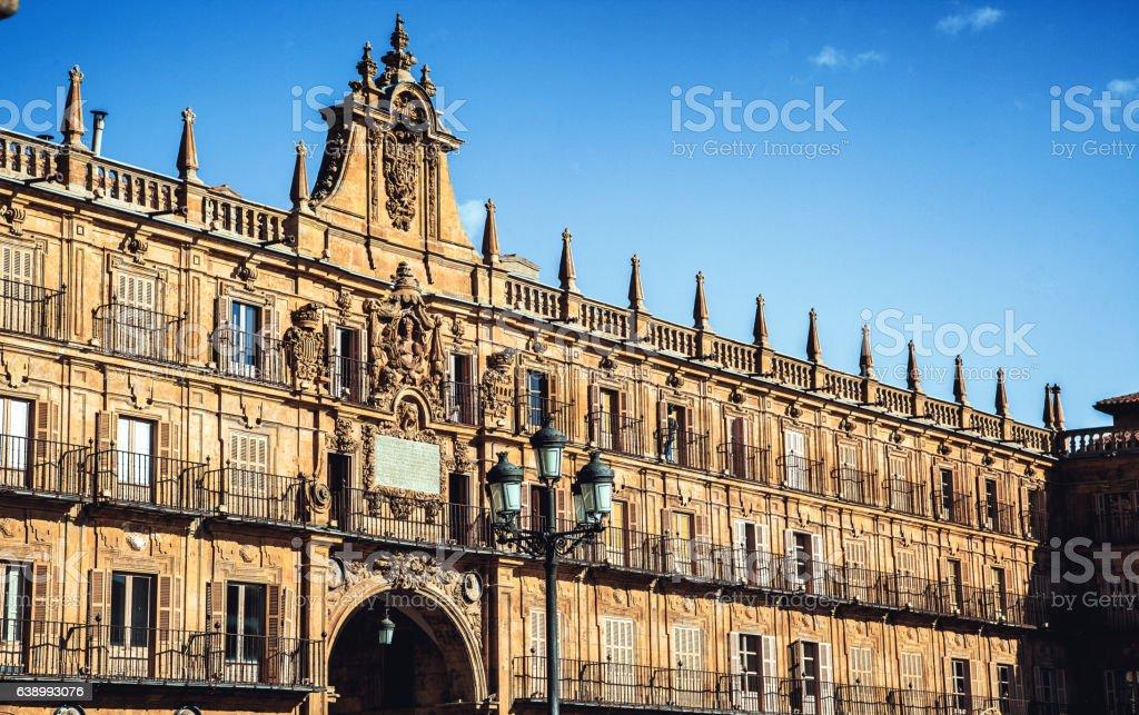City Hall salamanca, Spain stock photo