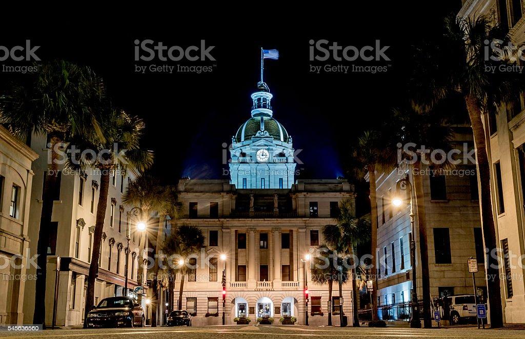 City Hall - Savannah, Georgia stock photo