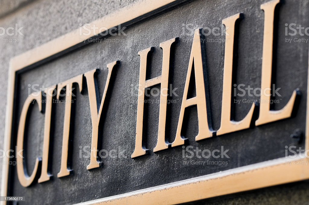 City Hall Sign royalty-free stock photo