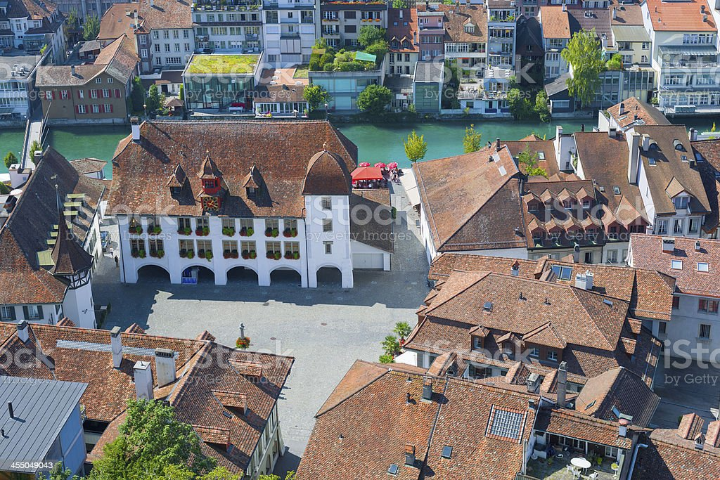 City Hall Square in Thun royalty-free stock photo