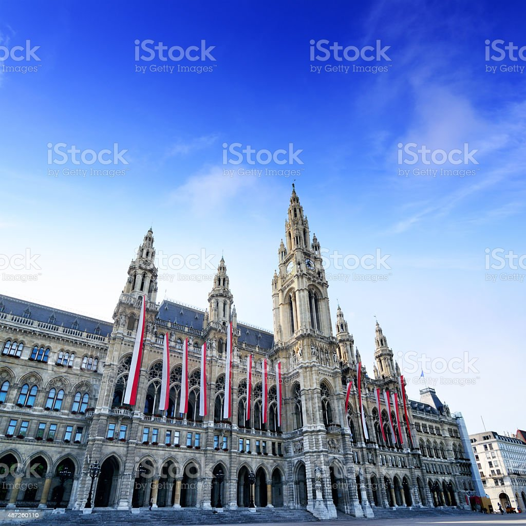 Rathaus, Vienna stock photo