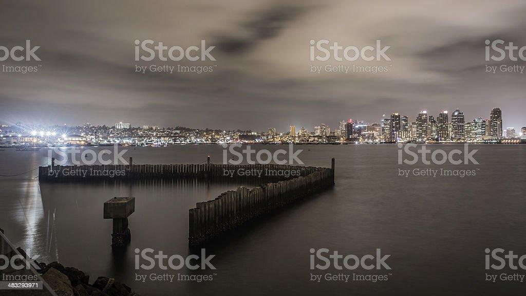 City Harbor At Night stock photo