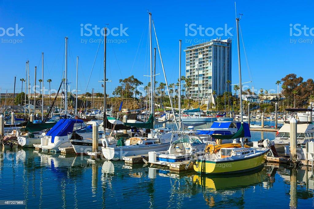 City Harbor of Oceanside harbor,sail,dock,boats,ocean, CA stock photo