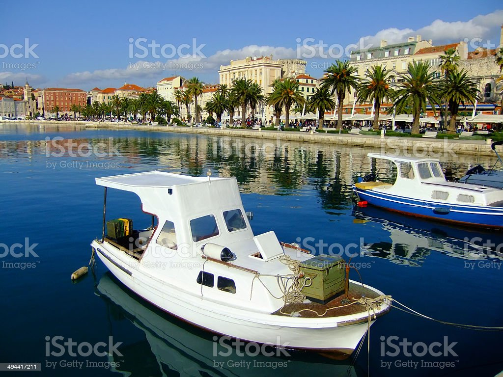 City harbor, Split, Croatia stock photo