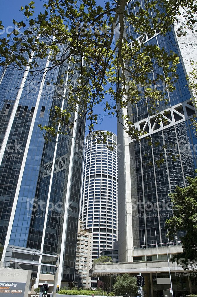 City highrise buildings royalty-free stock photo