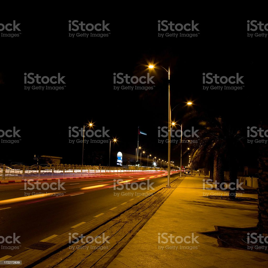 city highway at night royalty-free stock photo