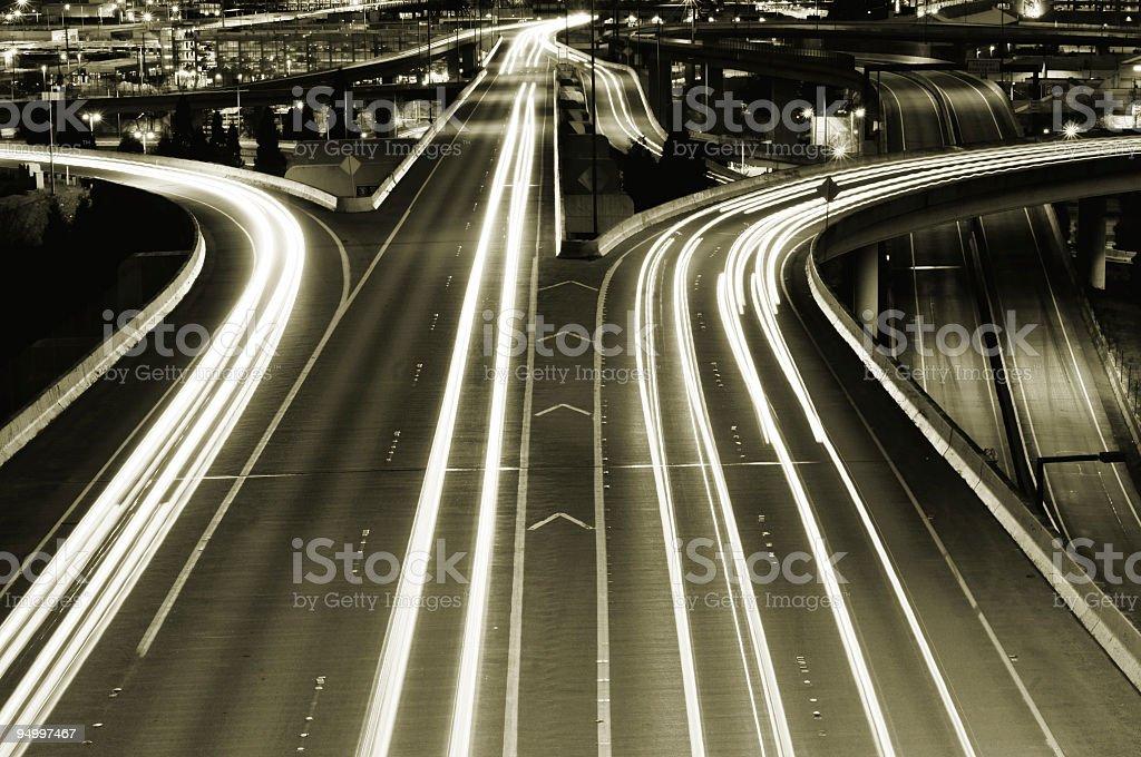 City highway royalty-free stock photo