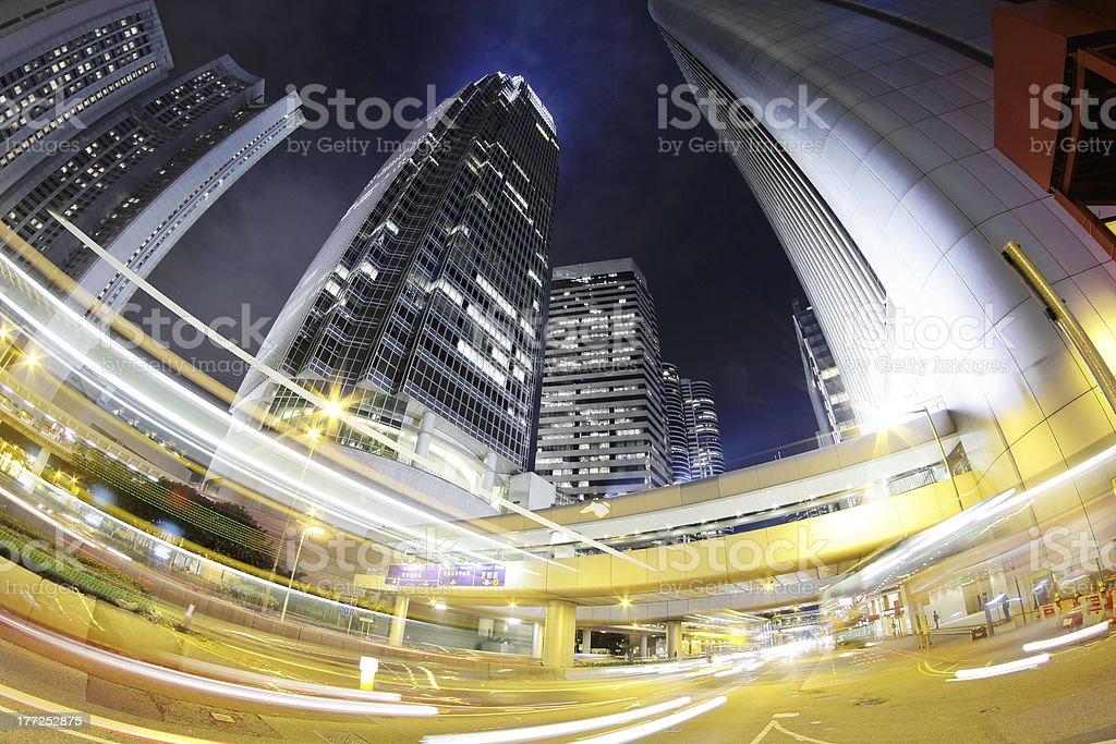 City. Hong Kong Night. stock photo