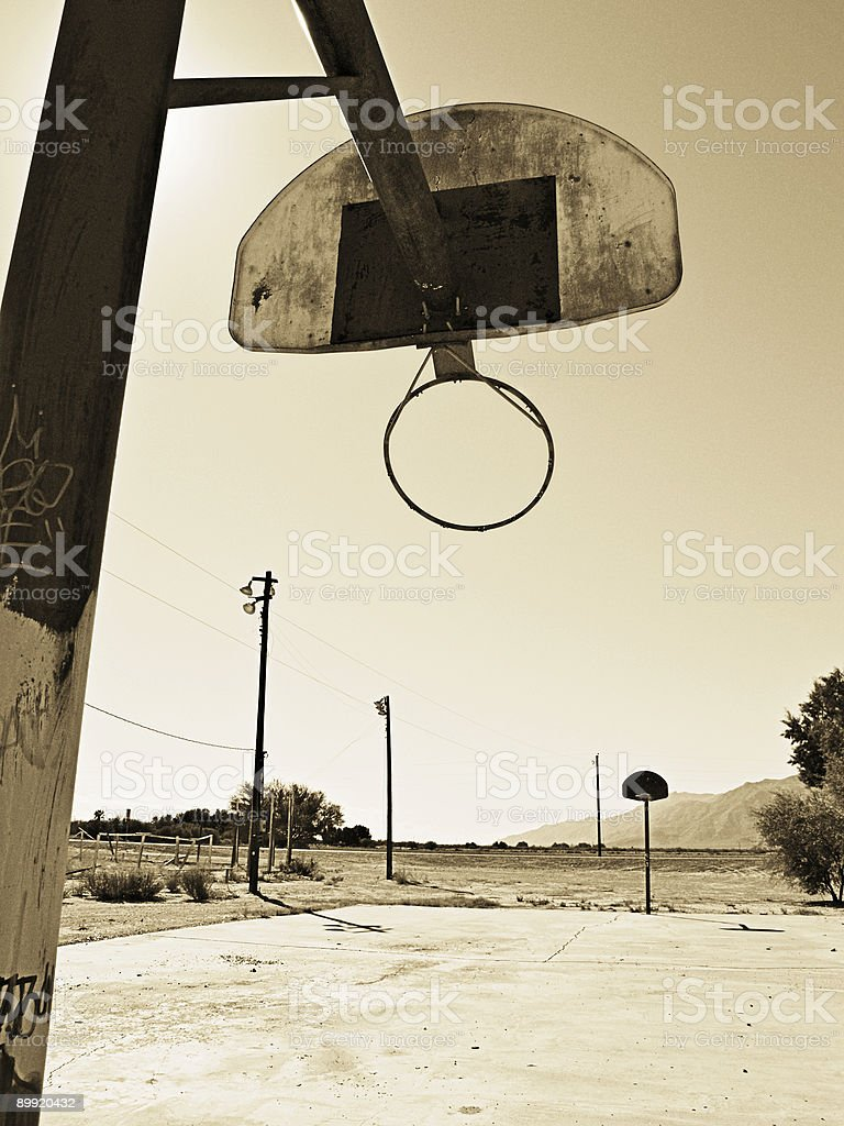City Hoops (sepia) stock photo