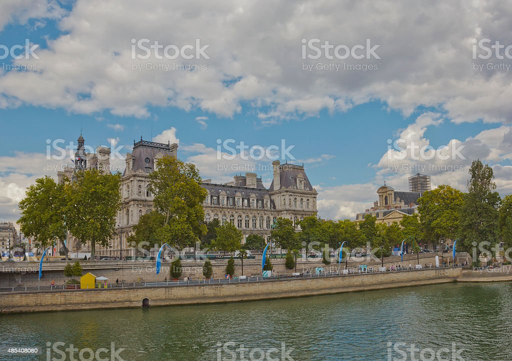 Hotel de Ville in Paris, France stock photo