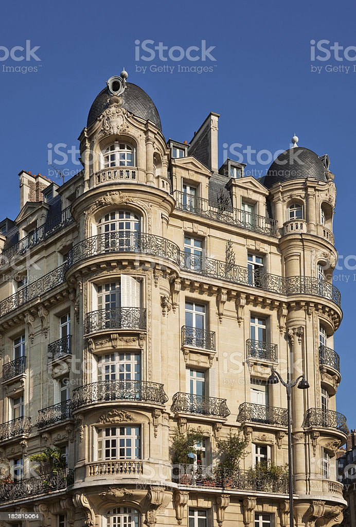 City House in Paris royalty-free stock photo