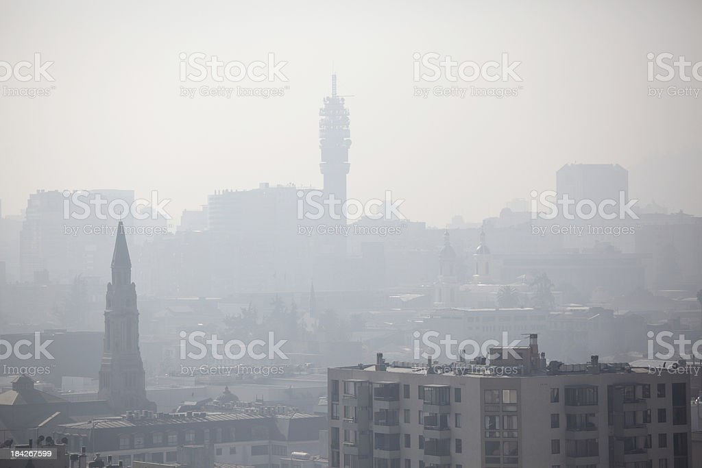 City in Smog royalty-free stock photo