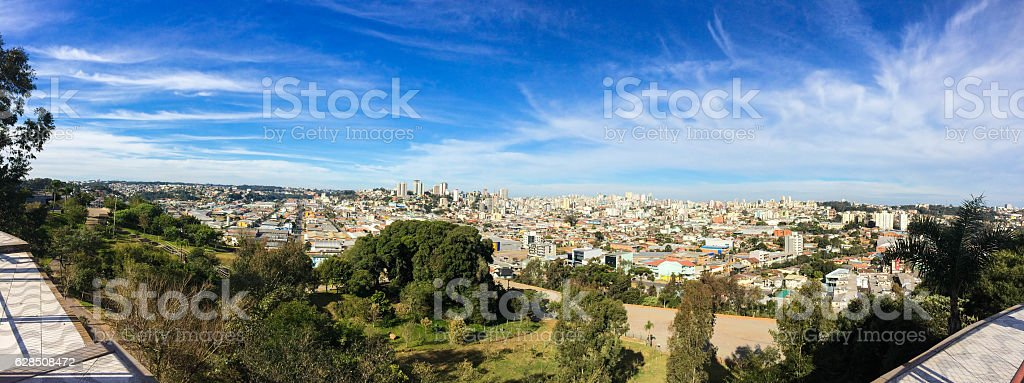 City in South of Brazil stock photo