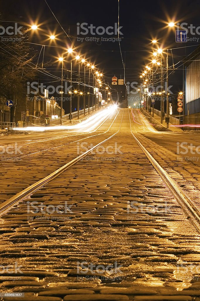 city in the night royalty-free stock photo