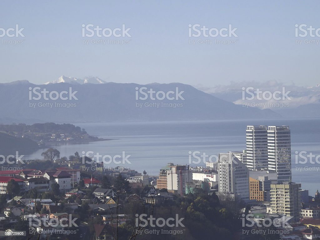 City in the Patagonian fjords royalty-free stock photo