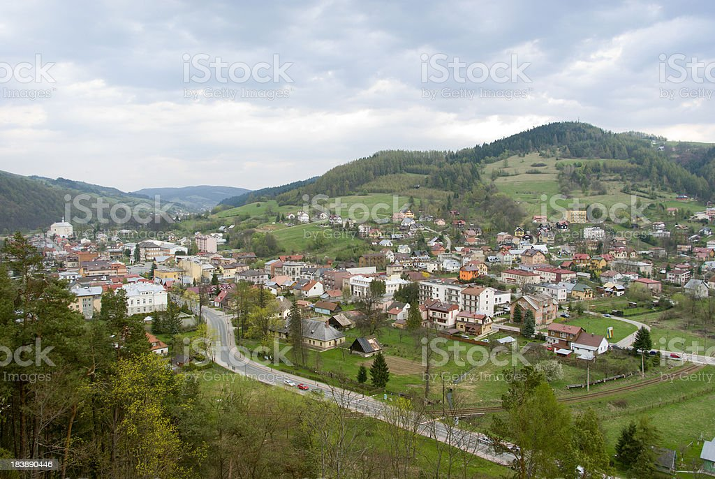 city in valley royalty-free stock photo