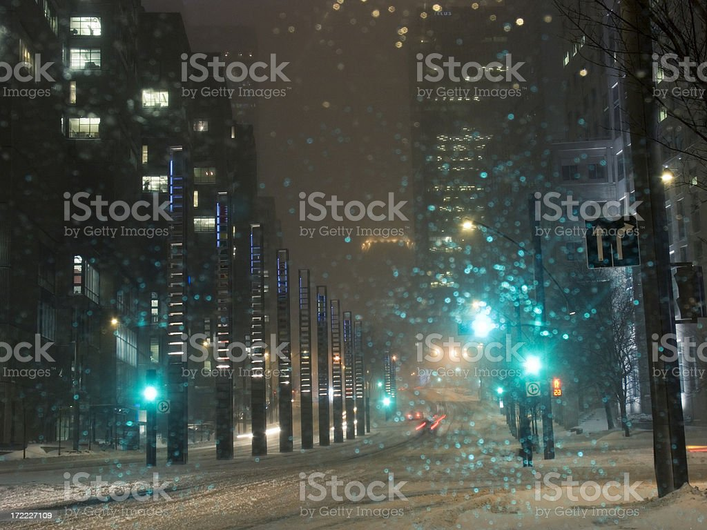 City in Winter royalty-free stock photo