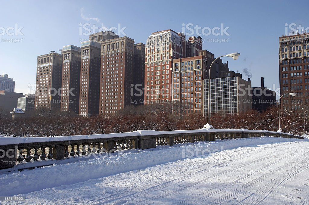 City In Winter #2 royalty-free stock photo