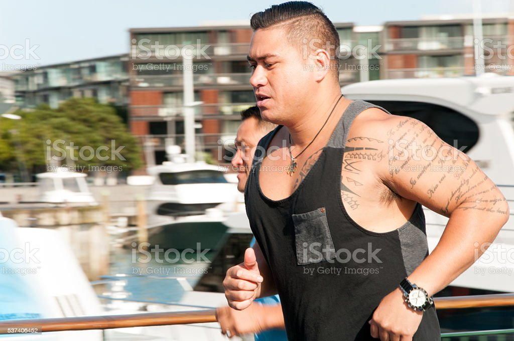City Joggers stock photo