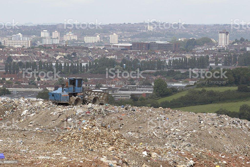 City landfill site royalty-free stock photo