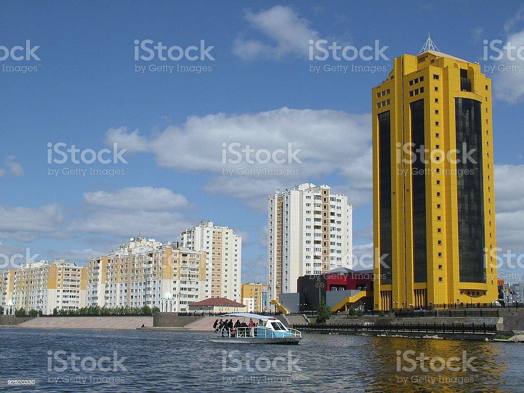 City landscape the river Astana Kazakhstan royalty-free stock photo