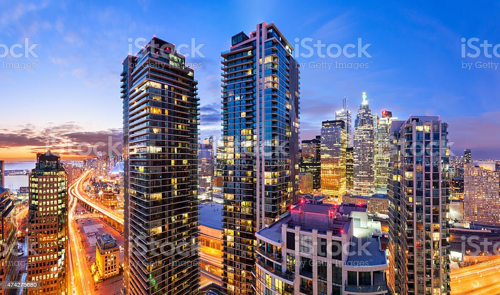 City Life Downtown Toronto Vibrant Cityscape Skyline stock photo