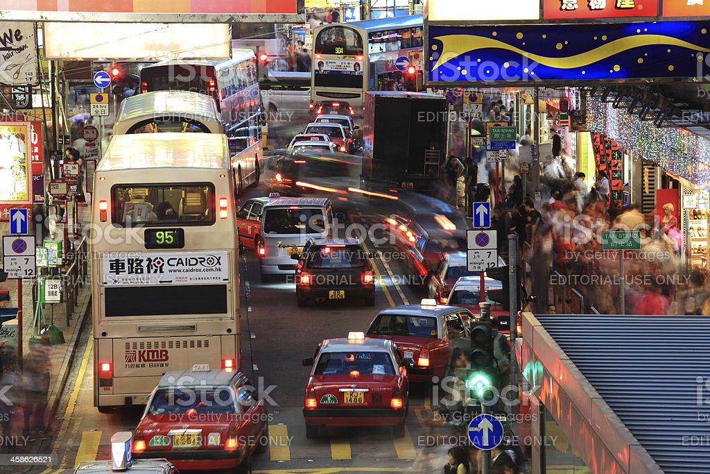 City Life Hong Kong royalty-free stock photo