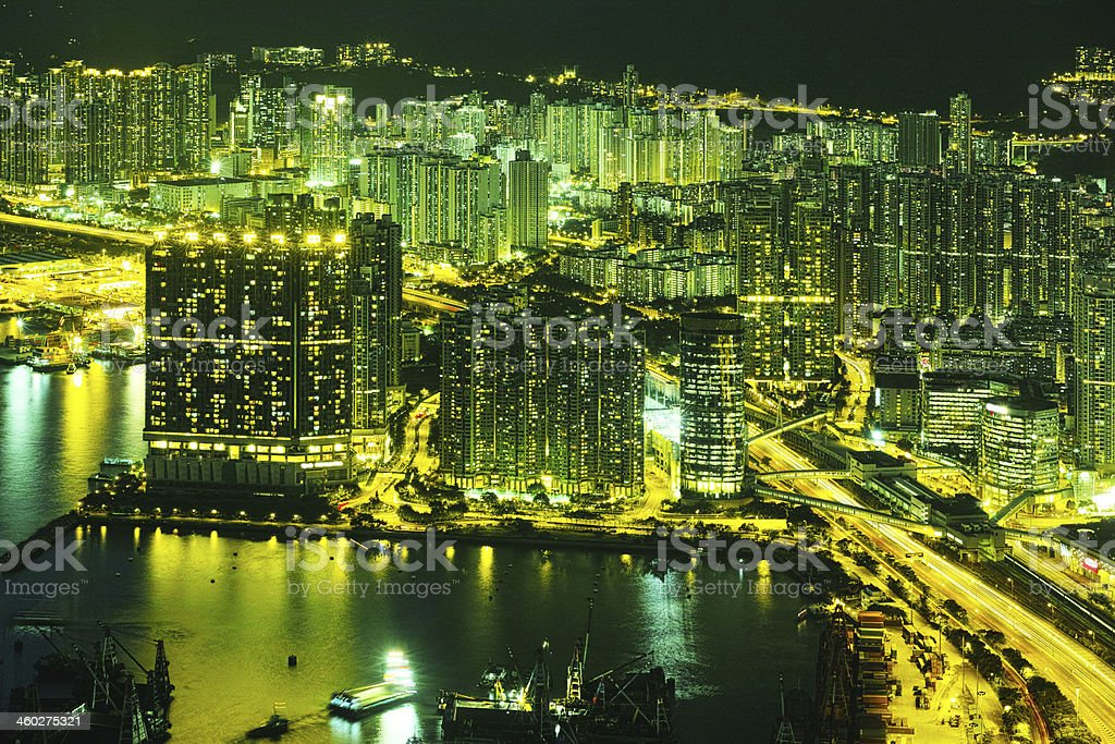 City Life Hong Kong royalty-free stock photo