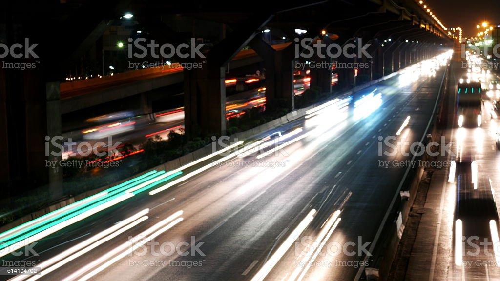 City life in Bangkok stock photo