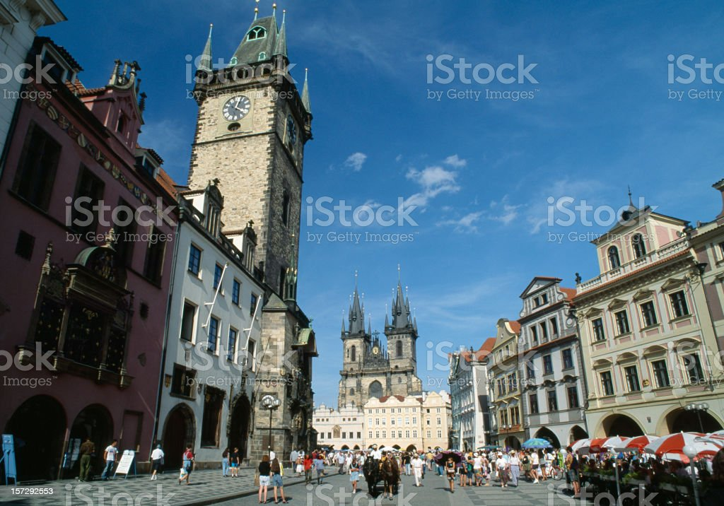 City life in Prague on a sunny day. royalty-free stock photo