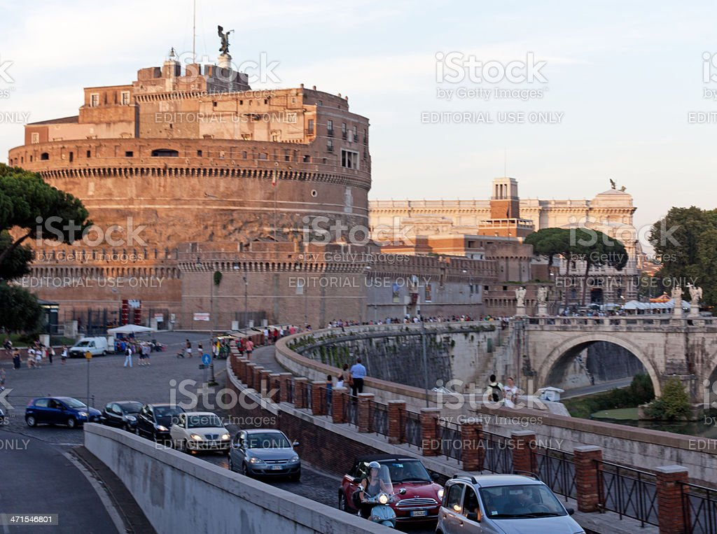 City life in Rome royalty-free stock photo