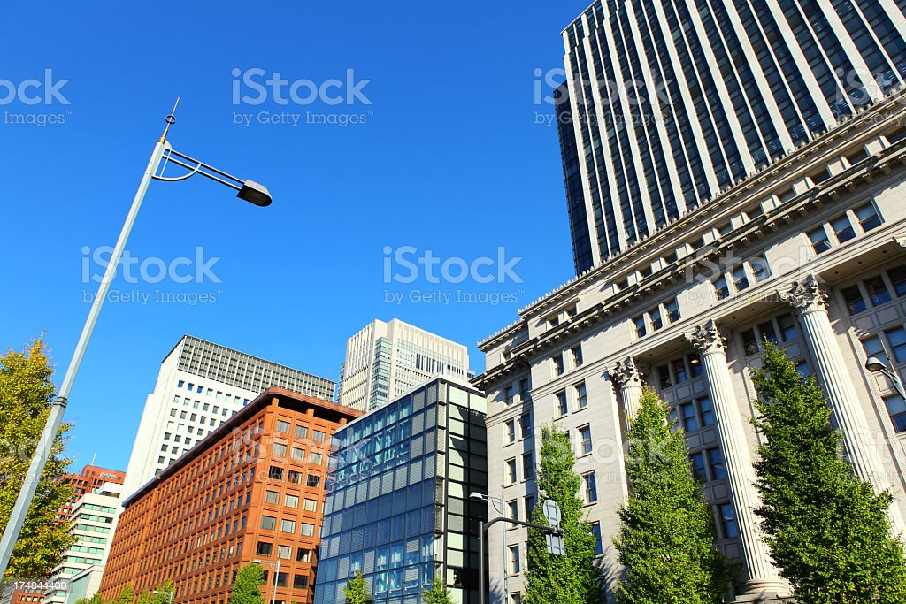 city life in Tokyo stock photo