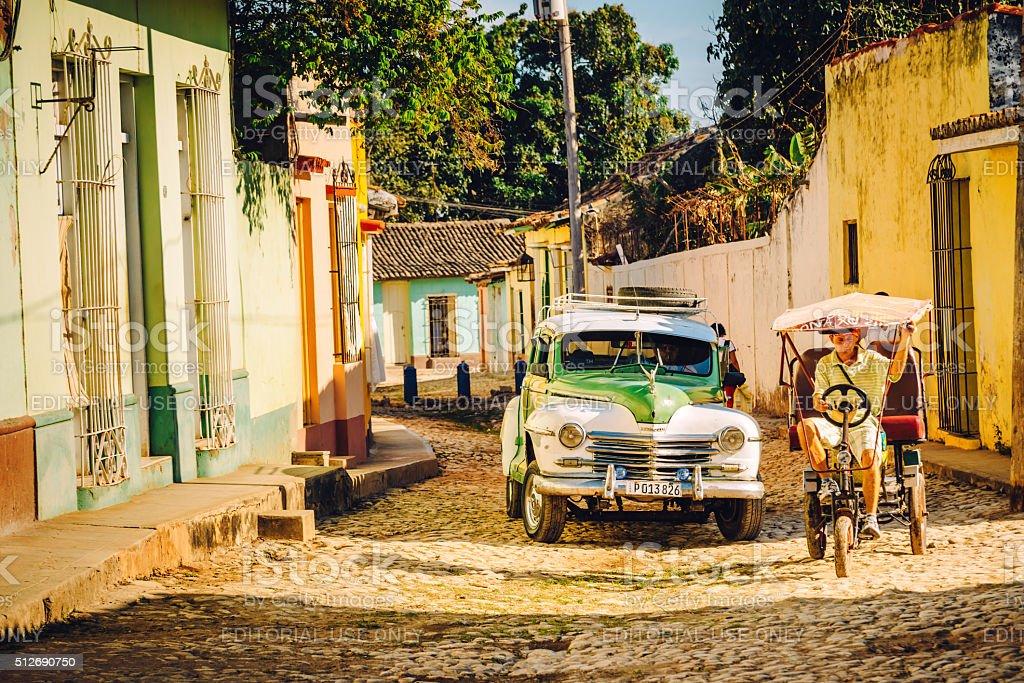 City Life in Trinidad, Cuba stock photo