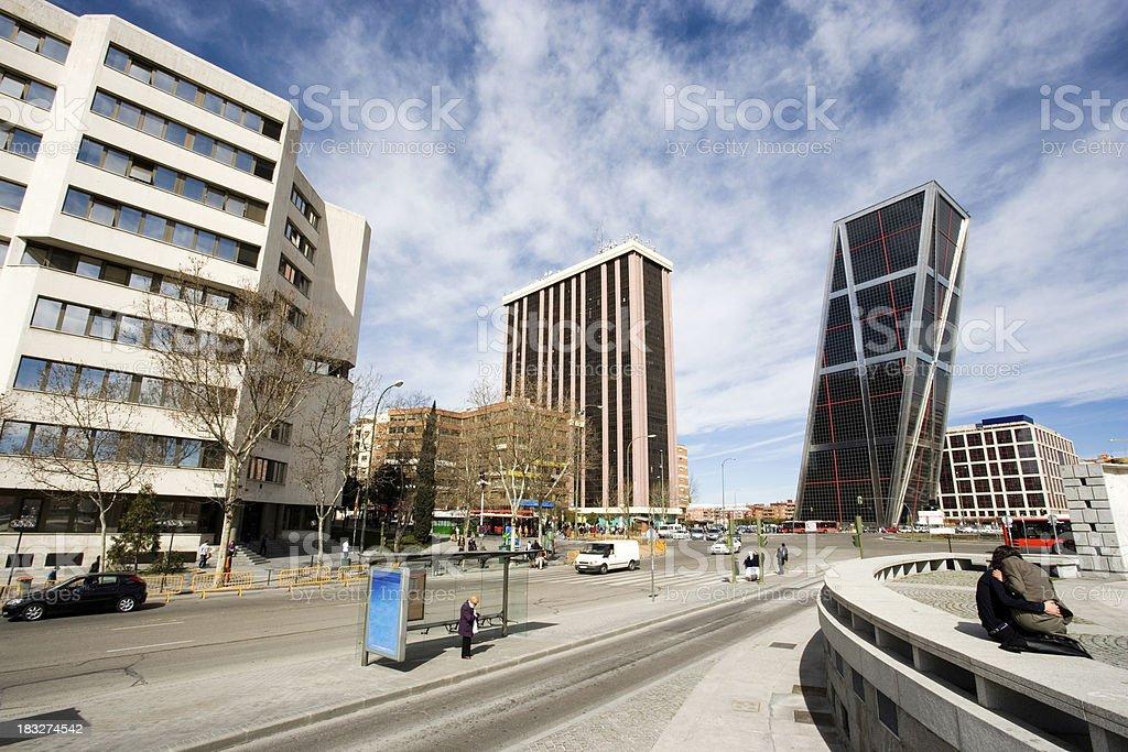 City life Madrid Spain royalty-free stock photo