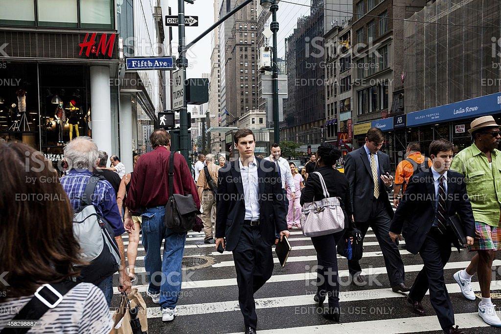 City Life on 5th Avenue, New York royalty-free stock photo