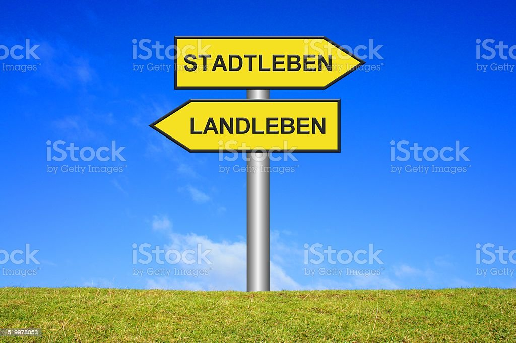 City Life or Country Life german stock photo