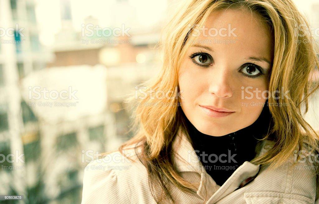 City Life Portrait / Cross Process royalty-free stock photo