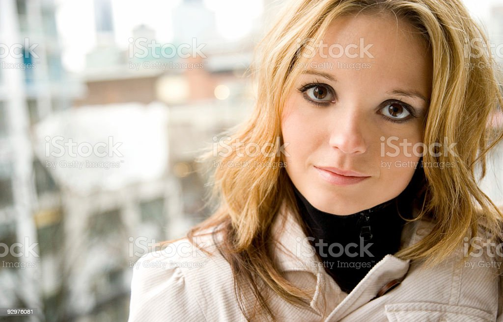 City Life Portrait stock photo