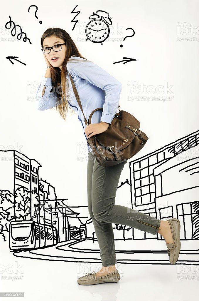 city life stress stock photo